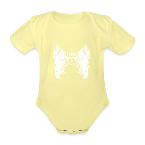 Oxygène blanc - Body Bébé bio manches courtes