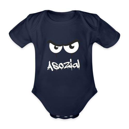Asozial - Baby Bio-Kurzarm-Body