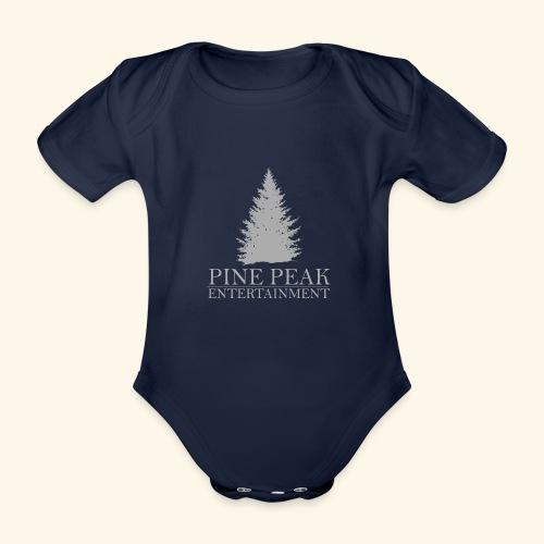 Pine Peak Entertainment Grey - Baby bio-rompertje met korte mouwen