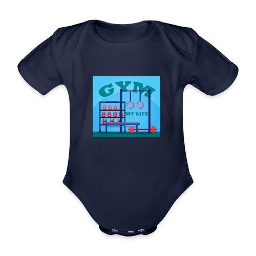 GYM - Vauvan lyhythihainen luomu-body