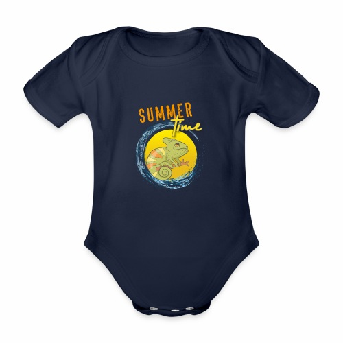 Chamäleon - Baby Bio-Kurzarm-Body