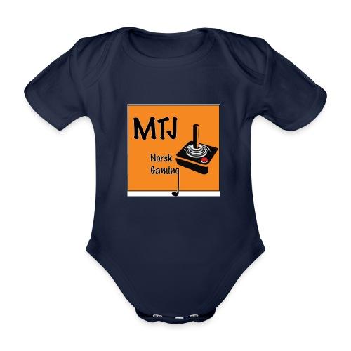Mtj Logo - Økologisk kortermet baby-body