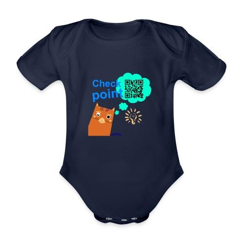 Duna Checkpoint - Økologisk kortermet baby-body