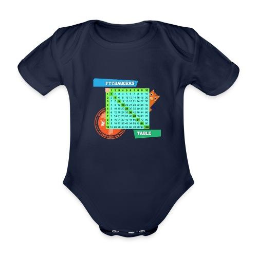 Pythagoras table - Økologisk kortermet baby-body