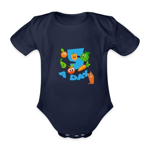Duna five a day - Økologisk kortermet baby-body