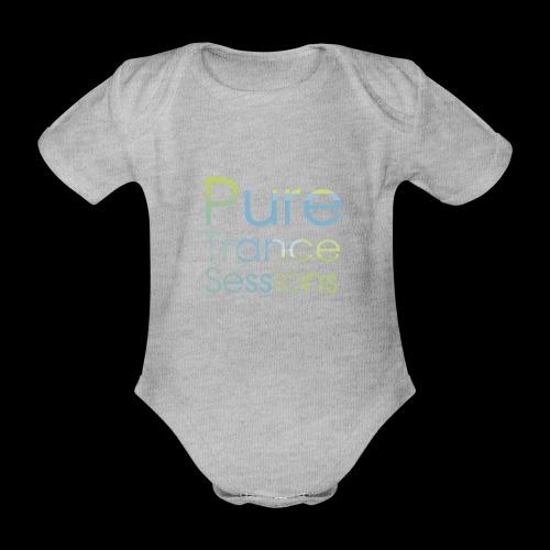 pts text hd - Organic Short-sleeved Baby Bodysuit