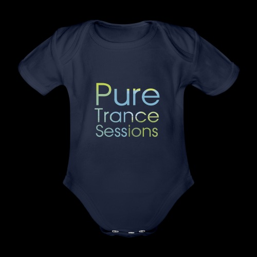 pts text hd - Organic Short-sleeved Baby Bodysuit