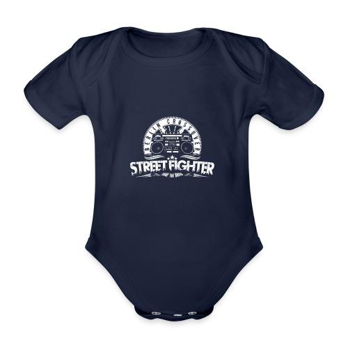 Street Fighter Band White - Organic Short-sleeved Baby Bodysuit