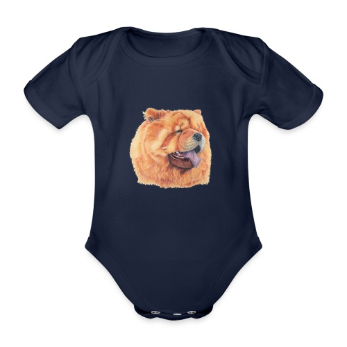 chow chow - Kortærmet babybody, økologisk bomuld
