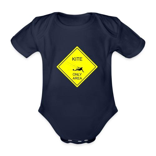 Kitesurfing only area - Ekologiczne body niemowlęce z krótkim rękawem