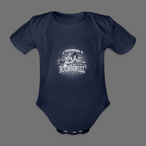 Rock 'n' Roll - Sounds Like Heaven (biały) - Ekologiczne body niemowlęce z krótkim rękawem