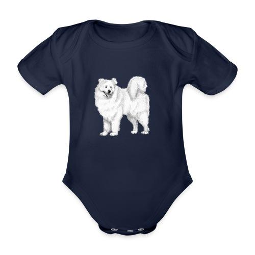 samoyed - Kortærmet babybody, økologisk bomuld