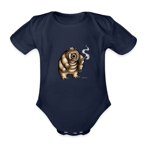 Smokey the Water Bear - Organic Short-sleeved Baby Bodysuit
