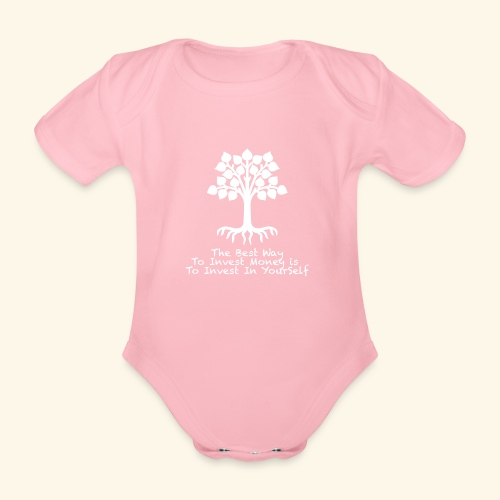 Printed T-Shirt Tree Best Way Invest Money - Body ecologico per neonato a manica corta