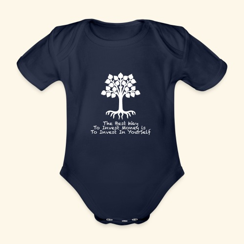 Printed T-Shirt Tree Best Way Invest Money - Body ecologico per neonato a manica corta