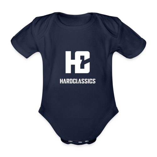 HC tekst logo - Baby bio-rompertje met korte mouwen