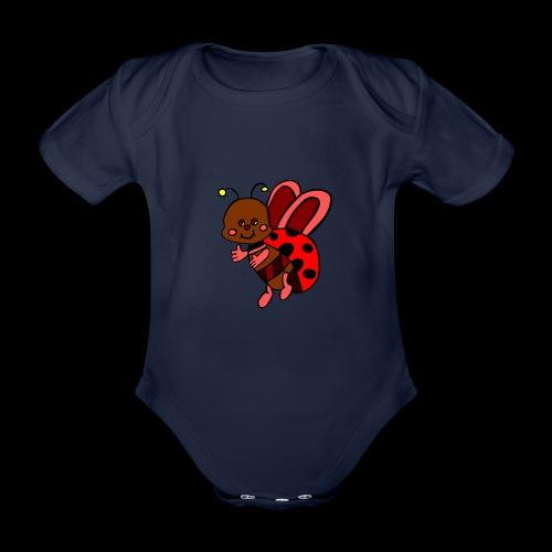 marienkaefer bunt - Baby Bio-Kurzarm-Body