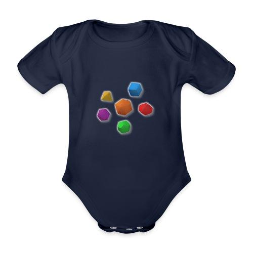 PolyDicePin - Organic Short-sleeved Baby Bodysuit