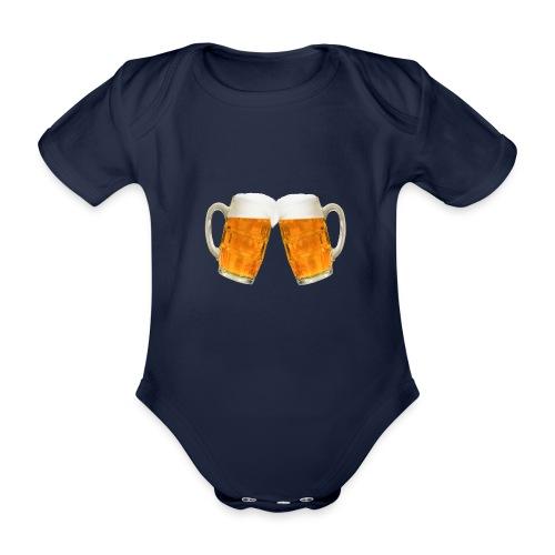 Zwei Bier - Baby Bio-Kurzarm-Body