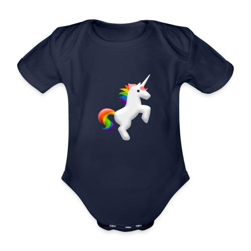 Regenbogen Einhorn - Baby Bio-Kurzarm-Body