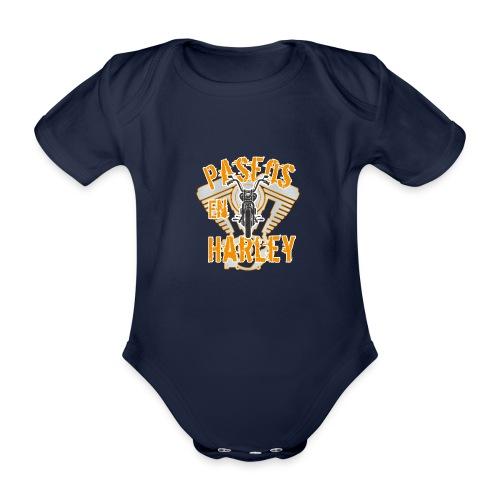 Paseos en H a r l e y - Body orgánico de manga corta para bebé