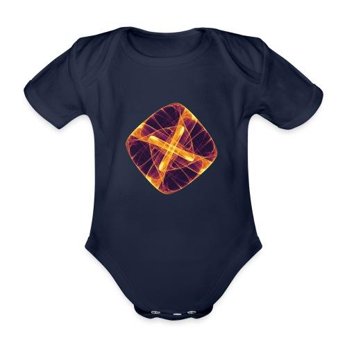 Chakra Mandala Mantra OM Chaos Star Circle 12255i - Organic Short-sleeved Baby Bodysuit