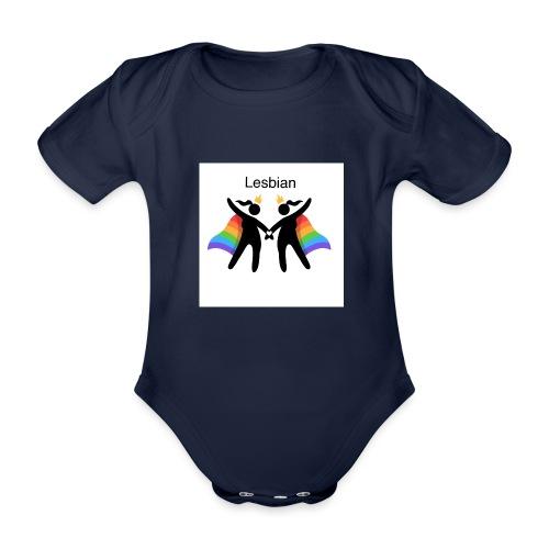 LGBT Lesbian - Kortærmet babybody, økologisk bomuld