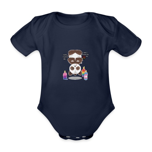 Panda Love - Kortærmet babybody, økologisk bomuld