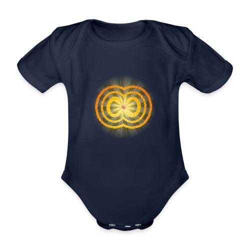 leuchtende / strahlende unendliche Liebe - Spirit - Baby Bio-Kurzarm-Body