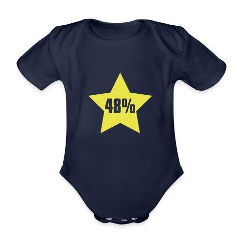 48% in Star - Organic Short-sleeved Baby Bodysuit