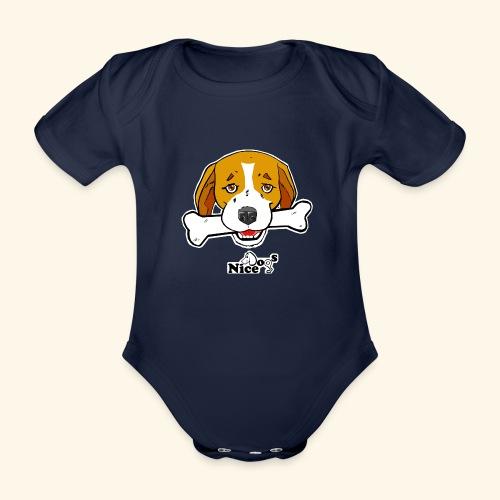 Nice Dogs Semolino - Body ecologico per neonato a manica corta