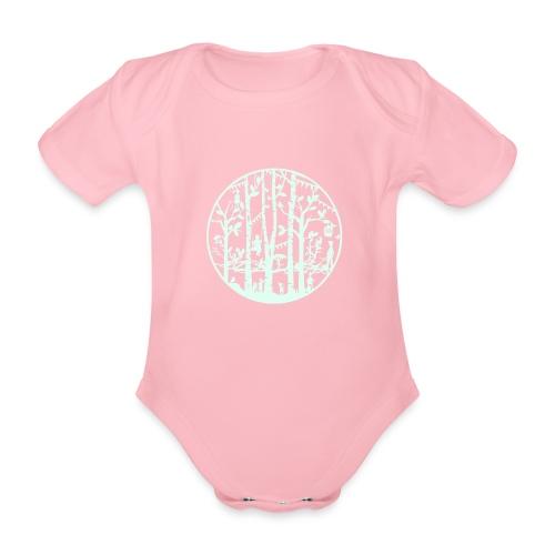 Mandala knipkunst lente - Baby bio-rompertje met korte mouwen