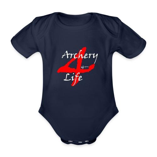 Archery4Life white - Baby Bio-Kurzarm-Body