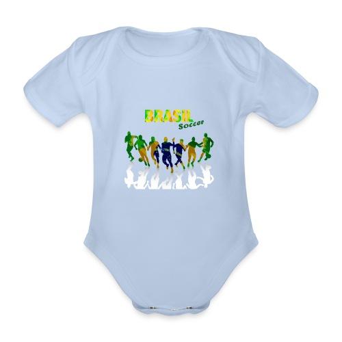 Brasil Soccer - Organic Short-sleeved Baby Bodysuit