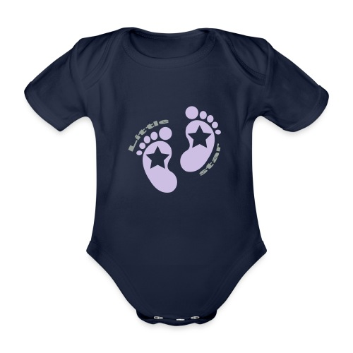 little star girl - Baby Bio-Kurzarm-Body