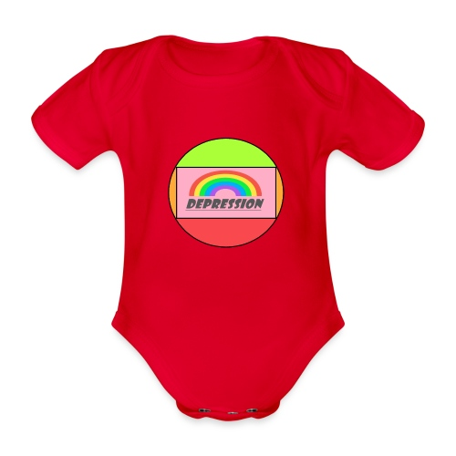 Depressed design - Organic Short-sleeved Baby Bodysuit