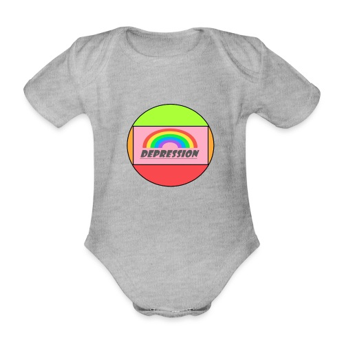 Depressed design - Organic Short-sleeved Baby Bodysuit
