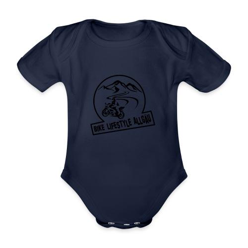 Logo - Schwarz - Baby Bio-Kurzarm-Body