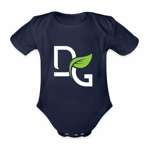 DrGreen Logo Symbol weiss grün - Baby Bio-Kurzarm-Body