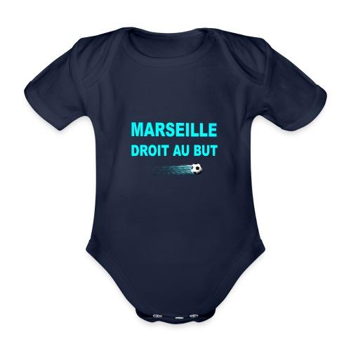 MARSEILLE DROIT AU BUT - Body Bébé bio manches courtes