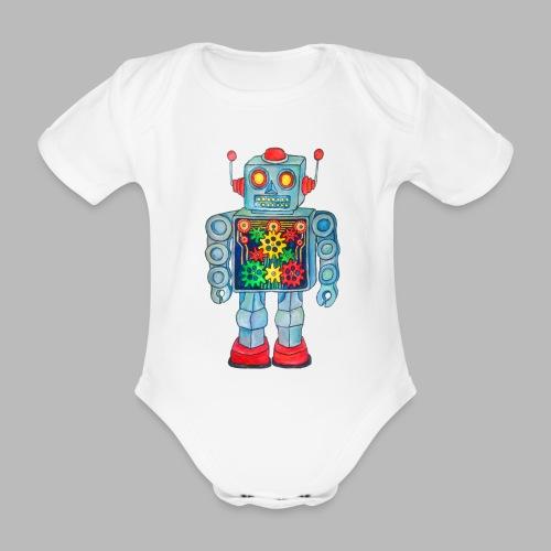 ROBOT - Organic Short-sleeved Baby Bodysuit