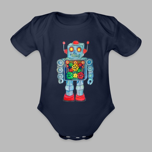 ROBOT - Organic Short-sleeved Baby Bodysuit