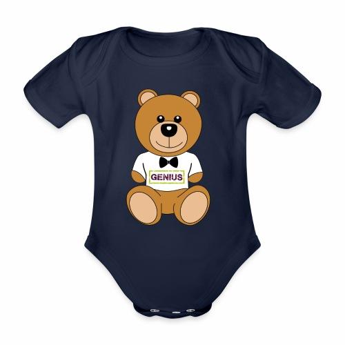 orsetto - Body ecologico per neonato a manica corta