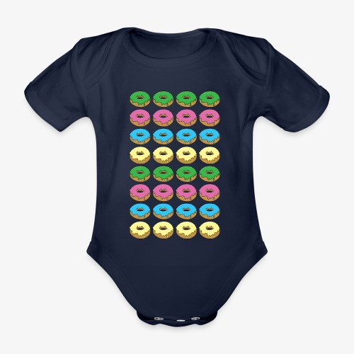 doughnuts - Organic Short-sleeved Baby Bodysuit