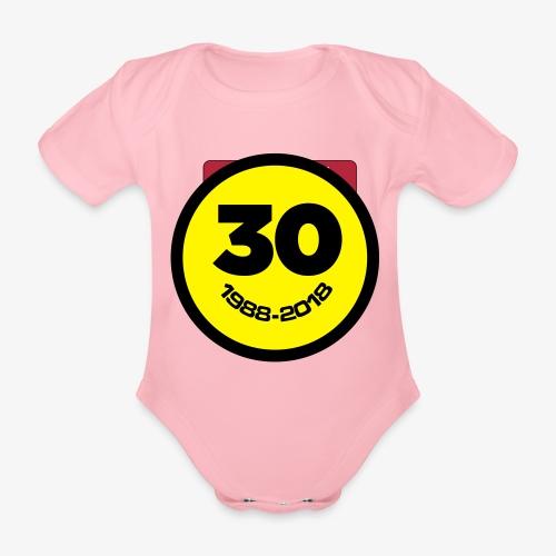 30 Jaar Belgian New Beat Smiley - Baby bio-rompertje met korte mouwen