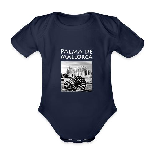 Palma de Mallorca mit Cathedrale Heiligen Maria - Baby Bio-Kurzarm-Body