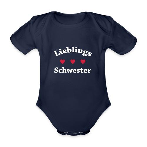 Lieblings Schwester - Baby Bio-Kurzarm-Body