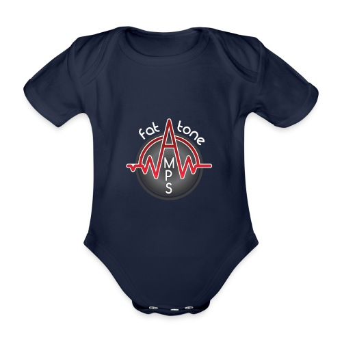 Fat Tone Amps logo - Organic Short-sleeved Baby Bodysuit