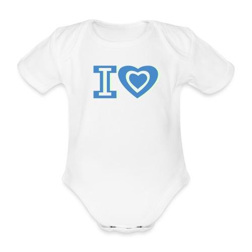 I LOVE I HEART - Organic Short-sleeved Baby Bodysuit