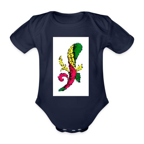 Asso bastoni - Body ecologico per neonato a manica corta